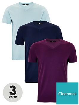 very-man-essentials-3-pack-v-neck-t-shirt-wine-bluenavy