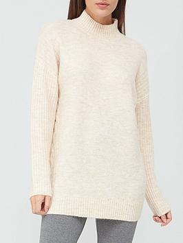 v-by-very-turtle-neck-cable-side-detail-tunic-stone