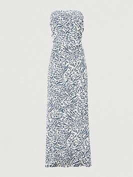 v-by-very-shirred-bandeau-maxi-dress-print