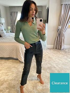 michelle-keegan-elasticated-back-pu-trousers-black