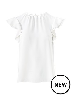 v-by-very-round-neck-short-sleeve-shell-top-ivory