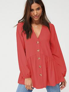 v-by-very-longline-button-through-tunic-coral