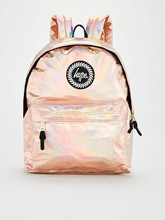 hype-girlsnbspholographic-backpack-rose-gold