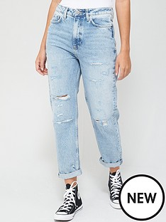 v-by-very-high-waistnbspmom-jeans-mid-wash