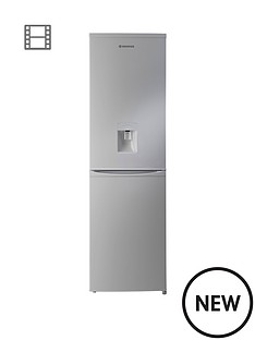 hoover-hvbf5182awk-55cm-wide-frost-free-fridge-freezer-with-water-dispenser-silver