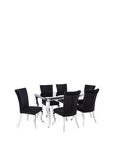 grace-160-cmnbsprectangle-dining-tablenbspnbsp6-chairs-blackchrome