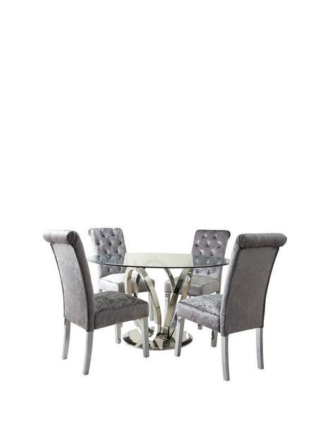 lola-120-cm-roundnbspdining-table-4-scroll-back-velvet-chairs