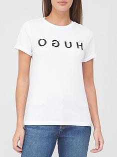 hugo-logo-t-shirt-white