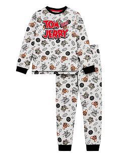 tom-jerry-boysnbspall-over-print-pyjamas-grey