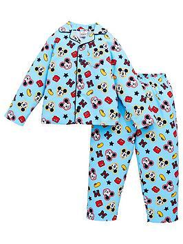 mickey-mouse-boys-disneynbspflannel-pyjamas-blue