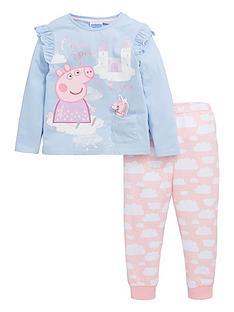 peppa-pig-girlsnbspwadded-unicorn-pjs-blue