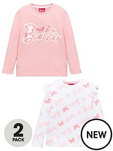 barbie-girlsnbsp2-pack-long-sleeve-t-shirts-pink