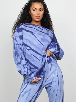 missguided-basic-oversized-tie-dye-sweat-blue