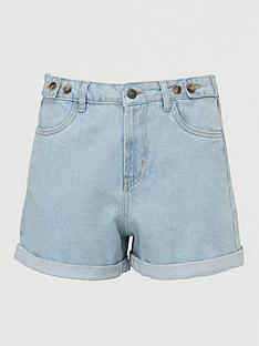 v-by-very-button-top-mom-denim-short-bleach-wash