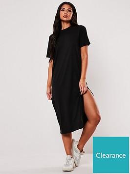 missguided-missguided-basic-t-shirt-midi-dress-black
