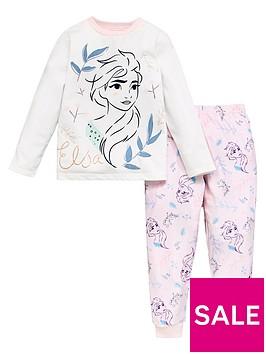 disney-frozen-girlsnbspelsa-fleece-long-sleeve-pjs-pink