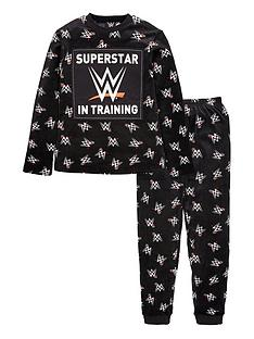 wwe-boysnbspfleece-superstar-in-training-pjs-black
