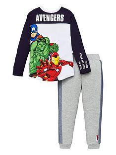 marvel-boysnbspavengers-2-piece-long-sleeve-t-shirt-and-jogger-set-navygrey