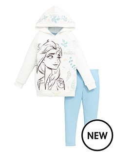 disney-frozen-girlsnbsp2-piece-elsa-follow-your-dream-hoodie-and-jegging-set-white
