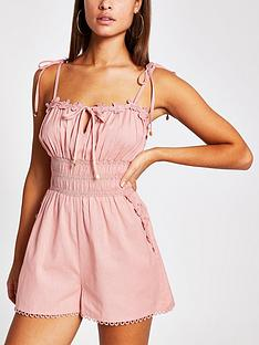 river-island-floral-trim-pleated-beach-playsuit-pink