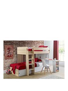 julian-bowen-eclipse-bunk-bed-scandinavian-oak-white