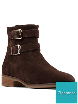 clarks-pure-mid-buckle-detail-suede-ankle-boot-dark-brown