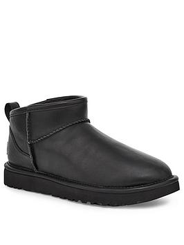 ugg-classic-ultra-leather-mini-ankle-boot-black