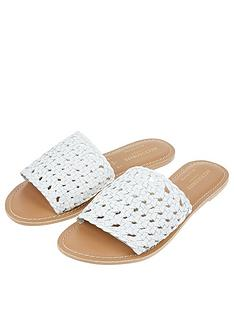 accessorize-woven-slider-white