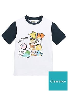 pokemon-boysnbspcontrast-sleeve-t-shirt-white