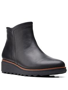 clarks-sharon-heights-low-wedge-ankle-boot-black-leather