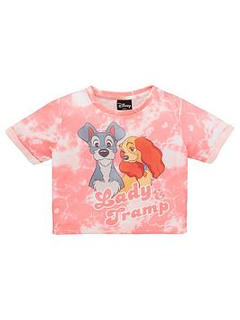 lady-and-the-tramp-girls-disney-lady-amp-the-tramp-tie-dye-cropped-t-shirt-multi