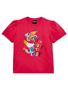 bambi-girls-disney-thumper-too-cute-to-care-t-shirt-pink