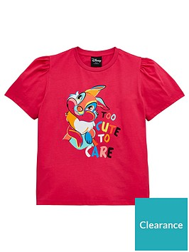 bambi-girls-disney-thumper-too-cute-to-care-t-shirt-pink