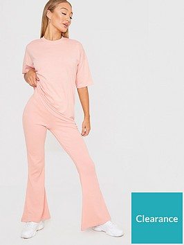 in-the-style-in-the-style-xnbspbillie-faiers-ribbed-flares-blush