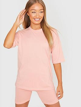 in-the-style-in-the-style-xnbspbillie-faiersnbspoversized-t-shirt-blush