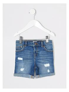 river-island-mini-boys-dylan-slim-denim-shortsnbsp-nbspblue