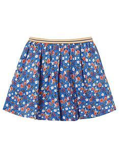 fatface-girls-bee-print-skirt-cobalt
