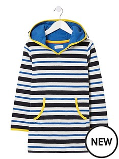 fatface-boys-stripe-hooded-towelling-top-navy