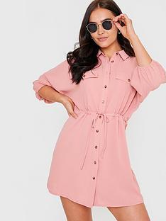 in-the-style-in-the-style-xnbspjac-jossanbsplinen-shirt-dress-blush
