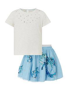monsoon-girls-disco-water-horse-top-and-skirt-set-blue