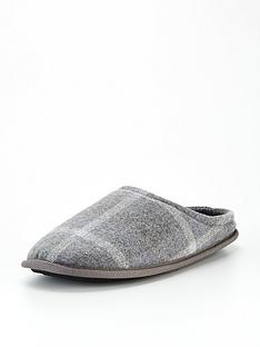 very-man-check-mule-slippers-grey