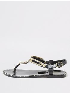 river-island-girls-toe-post-jelly-sandalsnbsp--black
