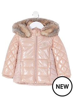 river-island-mini-mini-girls-high-shine-padded-coatnbsp-nbsppink