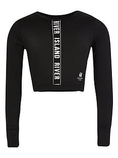 river-island-girls-active-long-sleeve-cropped-top-black