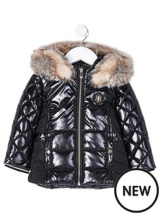 river-island-mini-mini-girls-high-shine-padded-coat-black