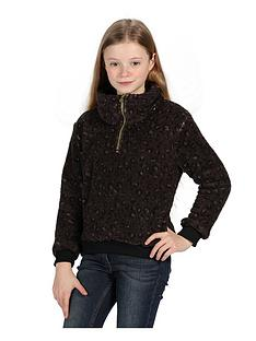 regatta-regatta-girls-kessie-14-zip-leopard-fleece