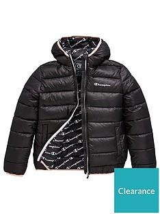 champion-girls-hooded-padded-jacket-black