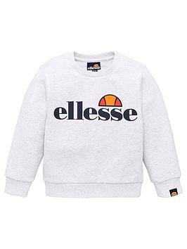 ellesse-younger-boys-crew-neck-sweat-top-white