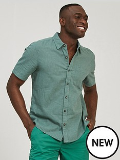 fatface-bugle-micro-check-short-sleeve-shirt-green