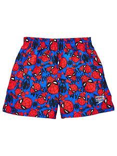 speedo-boys-spider-man-11-inch-watershort-blue-red
